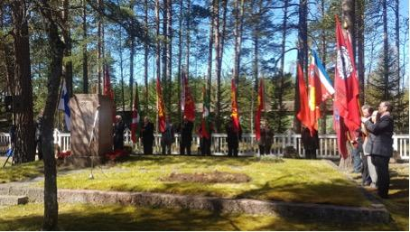1918 sisällissodan muistopuhe Märynummella